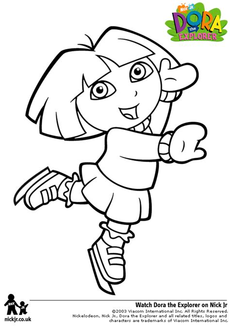dora coloring pages backpack diego boots swiper print