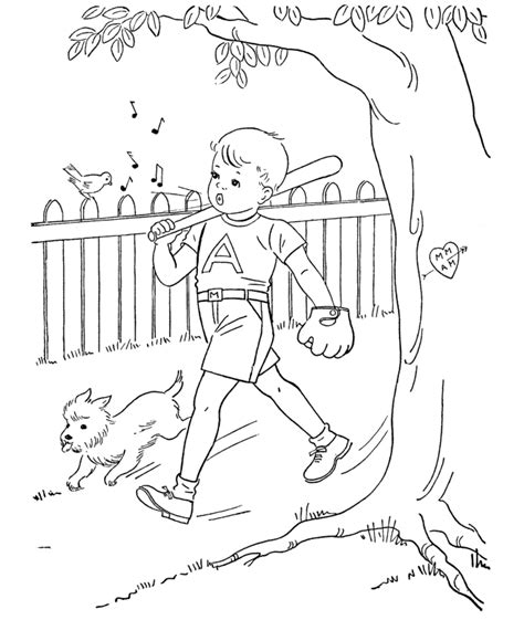 free coloring pages book for boys baseball printable az coloring pages