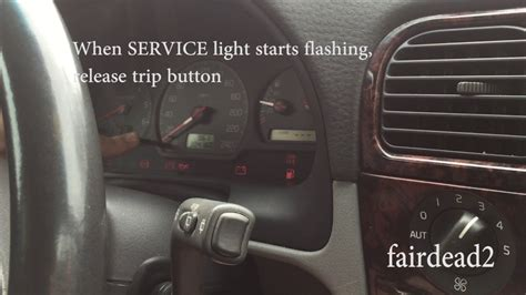 reset service light  volvo  youtube