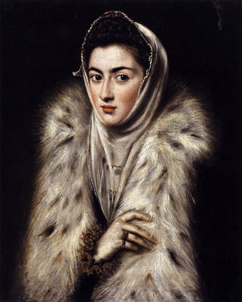 el greco a lady in a fur wrap by greco el