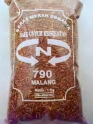 Beras Hitam Kemasan galih brawijaya beras merah organic malang 1 kg kemasan plastik