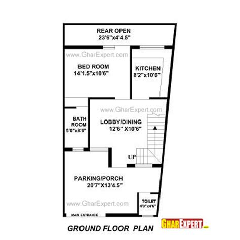elevation and plan for 37 60 ft land house plan for 22 by 35 plot plot size 86