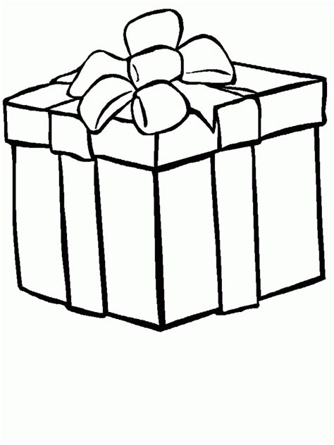 coloring pages of a christmas present christmas present drawing designcorner