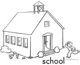 Dibujo Para Colorear Escuela Edificios Y Arquitectura 3  P&225ginas sketch template