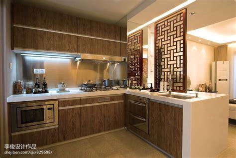 asian style design the specialists 中式风格厨房整体实木橱柜效果图 土巴兔装修效果图