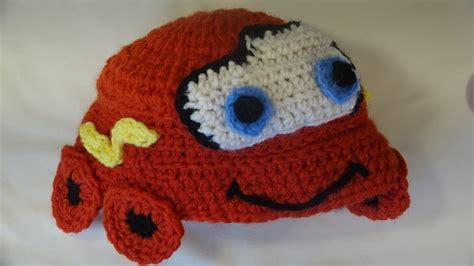 gorro tejido de cars rayo mc queen gorro de rayo mcqueen crochet lightning mcqueen hat for