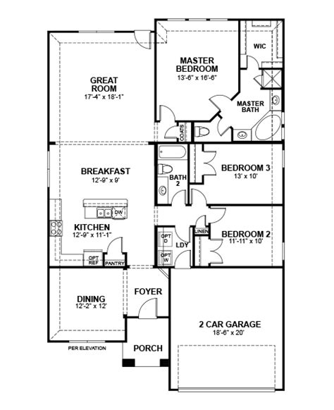 beazer floor plans silverado home plan in creek south elm tx