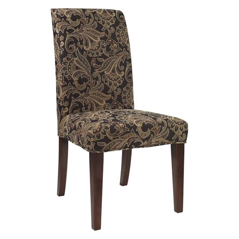slipcover for dining chairs powell classic seating autumn tone paisley tapestry short