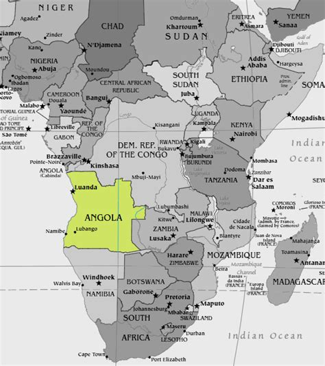 africa map 2012 no angola has not banned islam it s a more