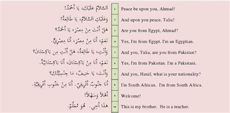 speak arabic today lesson six