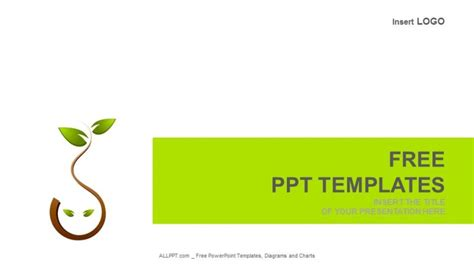 free templates powerpoint 2010 nature tree green nature logo nature powerpoint templates
