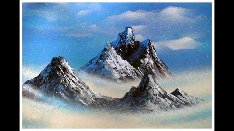 Mountain Range Spray Paint