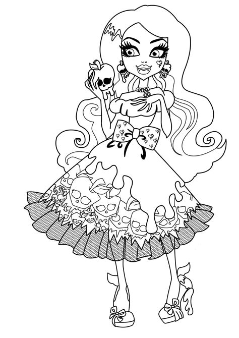printable coloring pages of monster high dolls draculaura monster high dolls coloring pages monster high