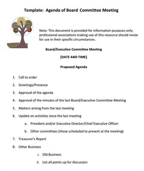 12 Sle Board Meeting Agenda Templates Sle Templates Board Meeting Agenda Template
