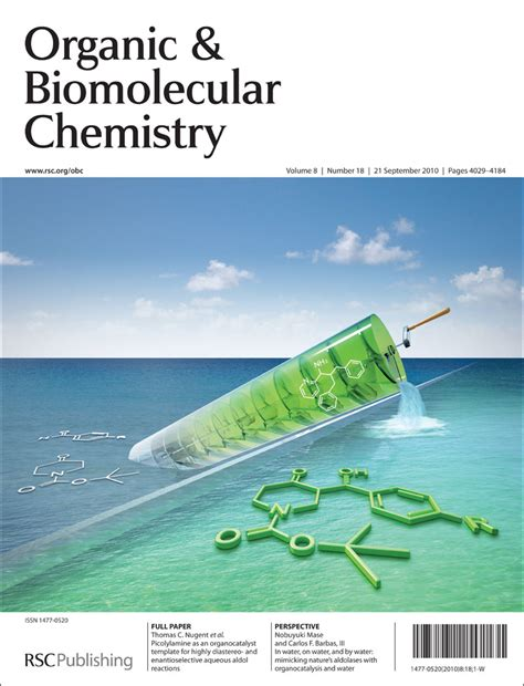 obc issue 18 cover organocatalysis and aqueous aldol