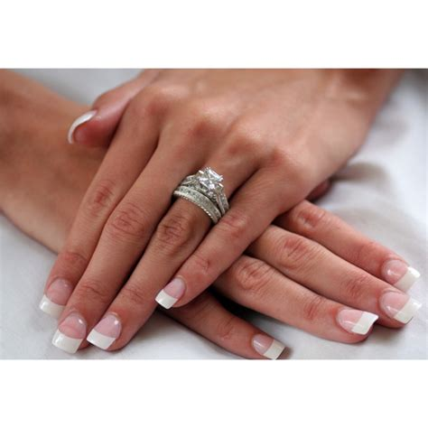 Womens Wedding Ring Sets by 2 83 Princess Cut Engagement Wedding Ring Set Womens