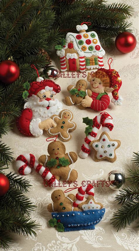 christmas cookies bucilla felt ornament kit 86148 fth
