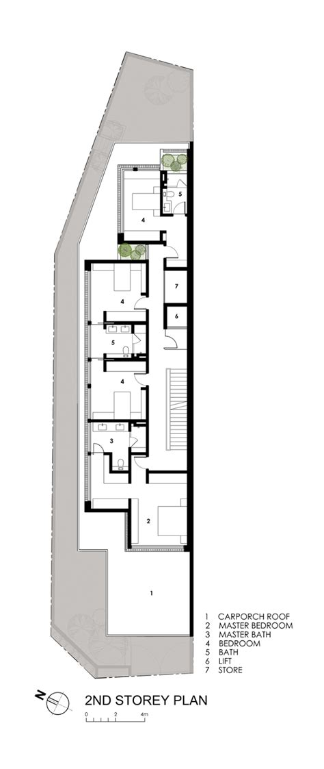 longhouse floor plans world of architecture thin but elegant modern house by
