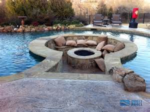 11 amazing designs of fire pits built inside pools