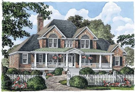 eplans farmhouse house plan southern charm 2586 square