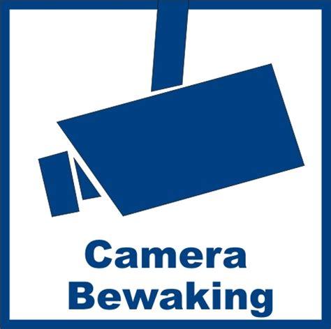 Sticker Camerabewaking Bestellen by Sticker Quot Camerabewaking Quot Buitenkant Raam Deur Gratis