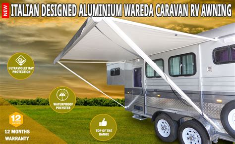 motorhome awnings direct new caravan awning roll out 3 5m x 2 5m new italian