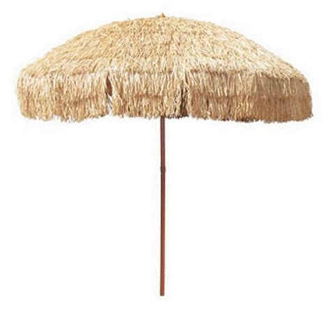 New 8 Hula Grass Umbrella Patio Deck Table Upf 50 Shade Grass Patio Umbrellas