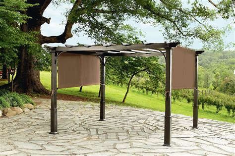 steel pergola with canopy garden oasis 9x10 pergola with heavy duty posts limited availability outdoor living gazebos