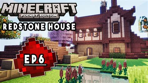 how to build a redstone house let s build mcpe redstone house ep6 best trophy room ever redstone tutorial