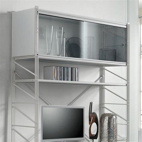 scaffali da parete mikkel scaffale componibile da parete in acciaio bianco