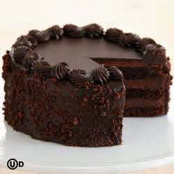 personalizable three layer chocolate cake
