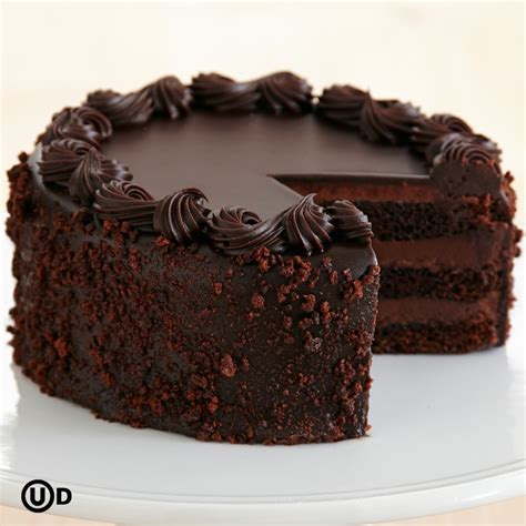 Chocolate Cakes by Personalizable Three Layer Chocolate Cake