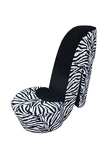 review all line high heel shoe chair with black