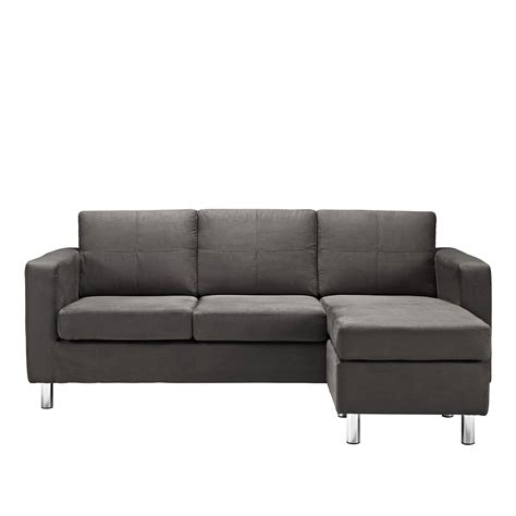 small black sectional small black sofa thesofa