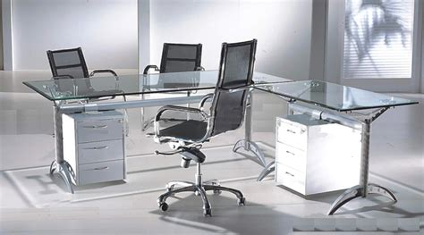 Modern Glass Office Desk Glass Top Contemporary Office Desks All Contemporary