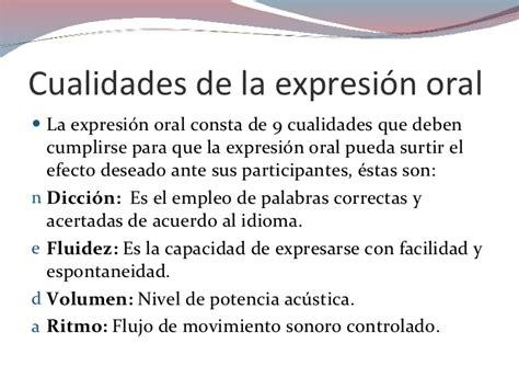 la expresin oral expresi 243 n oral