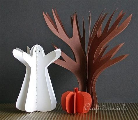 How To Make Paper Ghost For - free paper craft ideas fall and easy 3 d