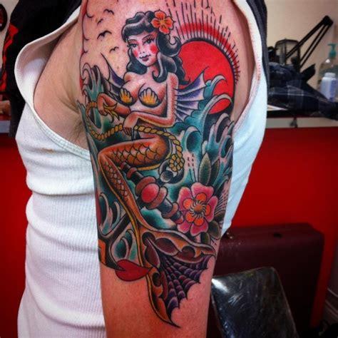 old school mermaid tattoo designs great mermaid pictures tattooimages biz