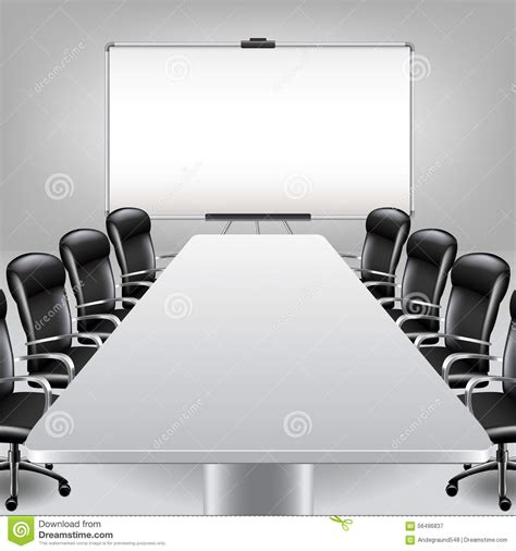 meeting room layout ppt empty meeting room and presentation board vector stock