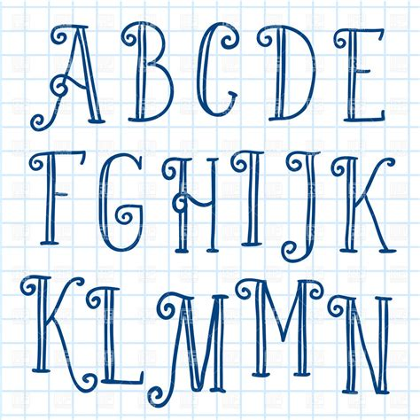 eps format fonts hand written font on checkered paper design elements