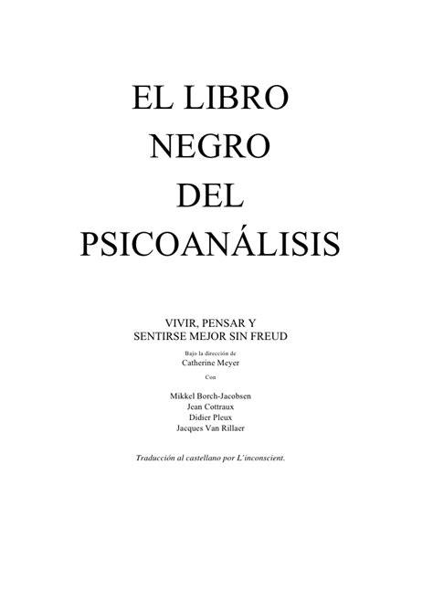 libro psicoanlisis de los cuentos el libro negro del psicoan 193 lisis