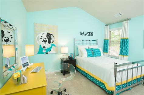 aqua paint bedroom bright aqua kids bedroom decor idea hidden forest