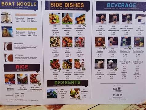 boat noodle menu boat noodle komtar jbcc johor bahru better than the