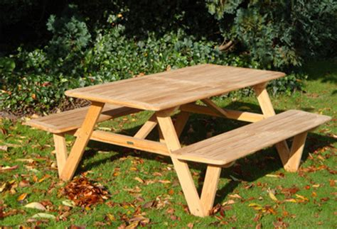picnic table without benches picnic benches the garden furniture centre blog