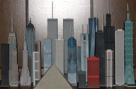 How To Make Paper Models Of Buildings - model of taipei 101 skyscrapercity