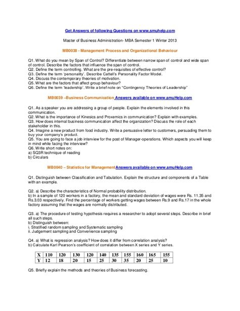 Smu Mba Honor Code by Smu Mba Sem1 Assignments Winter 2013