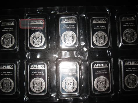 1 Ounce 999 Silver Bar Value - ten 1 oz apmex silver bar 999