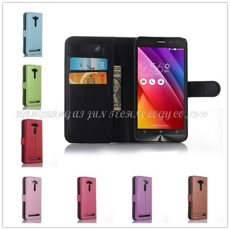 Wallet Pu Leather Book Cover Asus Zenfone 2 Selfie Laser Zd550kl luxury pu wallet book style leather for asus zenfone 2 laser ze500kl ze500k 5 0 inch flip