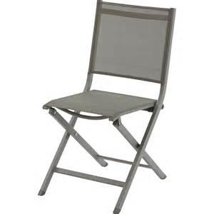 chaise de jardin en aluminium thema taupe leroy merlin