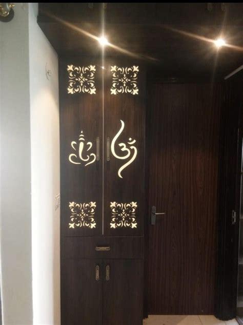 pin  karthik  pooja unit pooja room door design